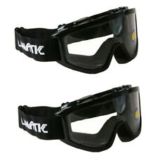 2 Pack Lunatic Motocross Dirt Bike ATV MX Goggles Adult - Black - Single Lens