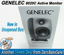 Genelec 8020C Active 2-Way Studio Monitor Dark Grey - Brand New in Unopened Box