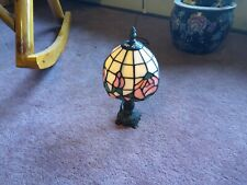 Tiffany Style Pink Roses  Stained Glass Shade Table Lamp, Bedroom, living room