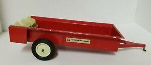 Vintage ERTL International Red Manure Spreader Toy Farm Equipment
