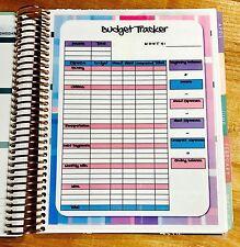 Monthly Budget Spending Tracker Dashboard Insert 4 use w Erin Condren Planner