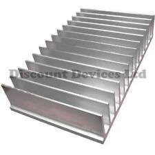 Dissipatore di calore in alluminio 100x165.5x35mm amplificatore di potenza/fornitura/TRANSISTOR/IC/FET/Pa
