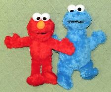"ELMO & COOKIE 9"" Sesame Street Monster Plush Set MUPPETS Blue Red Fuzzy Lovies"