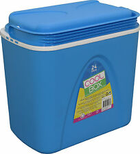 24L COOLBOX LARGE BLUE COOLER BOX CAMPING BEACH PICNIC ICE FOOD INSULATED TRAVEL
