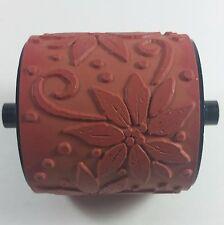 Stampin' Up! POINSETTIA Jumbo Wheel Rubber Stamp Christmas Flower RETIRED 2007