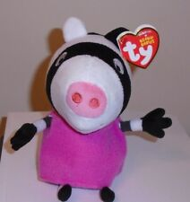 Ty Beanie Baby ~ ZOE ZEBRA (Peppa Pig)(UK Exclusive) MINT with MINT TAGS