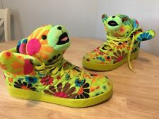 ADIDAS JEREMY SCOTT JS BEAR SLIME UK 11.5 poodle wings teddy Rare Hipster