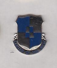 US ARMY 287th Maintenance Battalion crest DUI badge c/b clutchback P-23