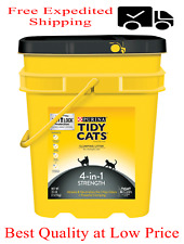 Purina Tidy Cats Clumping Cat Litter, 4-in-1 Strength Multi Cat Litter, 35 lb.