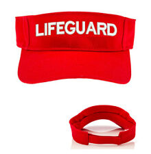 RED LIFEGUARD SPORT SUN VISOR ONE SIZE FITS MOST OSFM