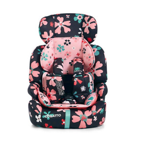 New Cosatto Zoomi group 123 anti escape car seat in Paper Petals from 9 to 36kg