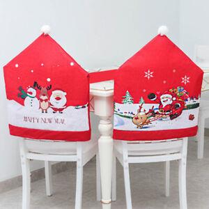Christmas Supplies Santa Claus Chair Black Cover Gift Non-woven Fabric 6N