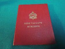 500  lire  argento/silver citta vaticano / sede  vacante  FDC / NO MEDAGLIA