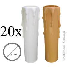 20x E14 bougies Manchon Socle O23/26mm plastique blanc ou Beige 70/85/100mm