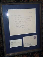 Ronald Reagan handwritten letter and envelope, 1956 signed