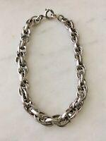 Vintage BEAU Chased Sterling Silver Starter Charm Bracelet