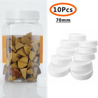 10Pcs Storage Mason Jars Bottle Cans Plastic Caps Lids White For 70/86mm Mouth