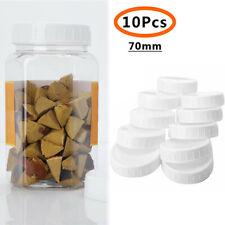10Pcs Storage Mason Jars Bottle Cans Plastic Caps Lids White For 70/86mm Mouth