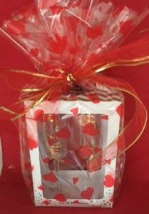 NOVELTY LETS GET FIZZY FLUTES GIFT SET GOLD EDITION WRAPPED