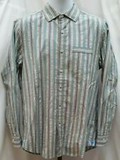 Pre-owned Tommy Bahama Gray L/S Long Sleeve Striped Shirt Size S Small K123