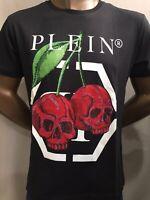 Philipp Plein men's t-shirt  round neck SS Cherries Black XL