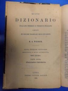 Weber dizionario Italiano-Tedesco Tedesco-Italiano Weber