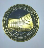 President Gerald R. Ford Foundation Devos Learning Center Token Brass & Enamel