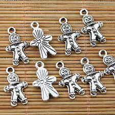 16pcs Tibetan silver robot charms EF1805