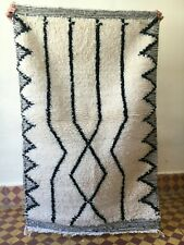 Moroccan Handmade New Rug Soft Wool Beni Ourain Berber Tribal Hand-woven Carpet