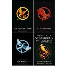 Hunger Games x 4 Books Set Pack ,Catching Fire, Mockingjay, Ballad & Songbirds