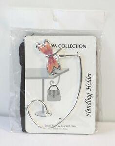 Portable Handbag Purse Hook Hanger Tabletop Holder with Storage Bag Dragonfly