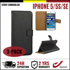 3IN1 Wallet Flip Case Cover Cas Coque Etui Portefeuill Hoesje For iPhone 5 5S SE