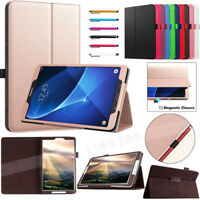 "For Samsung Galaxy Tab E/A/A6/S3/S2/S4 7""~10.5"" Tablet Folio Leather Case Cover"