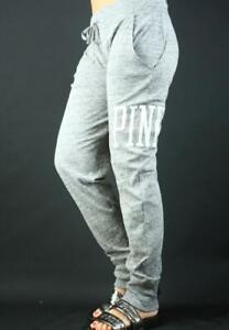 Victoria's Secret PINK Skinny Collegiate Knit Marled Gray Lounge Sweat Pants