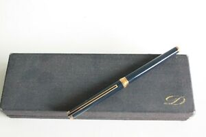 S.T. DUPONT CLASSIC ROLLERBALL in BLUE with Silver trim 925 vermeil