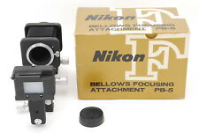 EXC+++++ NIKON PB-5 BELLOWS Focusing Attachment & PS-5 Slide Copying Adapter
