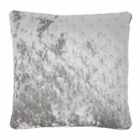 """2 X PEACOCK STYLE BLACK SOFT CHENILLE PIPED CUSHION COVER 22/"""" 55CM"""