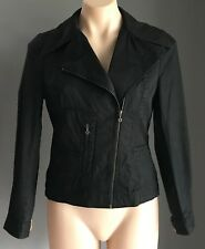 SCANLAN & THEODORE Ladies Size 10  Black Moto/Biker Style Cotton Jacket