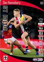 ✺New✺ 2020 ST KILDA SAINTS AFL Card DAN HANNEBERY Teamcoach