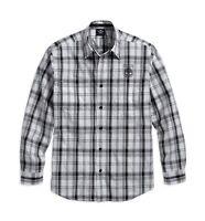 Harley-Davidson Men's Skull Shield Plaid Shirt - 99008-16VM