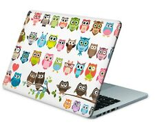 Universal Laptop Skin Notebook Netbook MacBook Aufkleber Sticker Cover Eulen