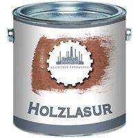 Lausitzer Farbwerke traditionelle Holzlasur Speziallasur 2,5L 5L 10L 20L Teak