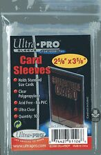100 ultra pro fundas mapas, card sleeves, 2 5/8 x 3 5/8
