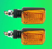 Paar Blinker e-geprüft Schwarz flexibel TÜV Halogen 21 Watt 12V 2 Miniblinker