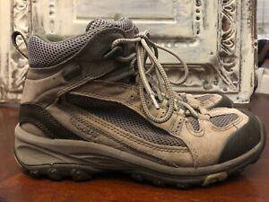 Vasque 7473 ALPHA GTX Suede GoreTex Hiking Trail Boots Beige Womens 8.5M Mesh EU