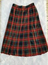Lloyd Womens 14 Vintage Plaid High Waisted Skirt Made In Usa Black Red Blue