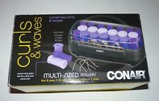 New! Conair Curls & Waves 20 Multi Sized Hot Rollers Hair Beauty 3 Sizes