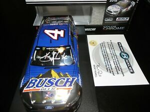 AUTOGRAPHED 2018 KEVIN HARVICK  #4  BUSCH BEER DARLINGTON COLOR CHROME COA