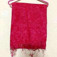 Red Yak Wool Shawl Scarf Wrap Tibetan Nepalese Handmade Nepal YS08