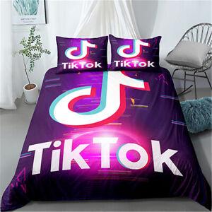 Tik Tok Twin/Full/Queen/King Size Bed Duvet/Quilt Cover Set Pillowcase Hot Sale